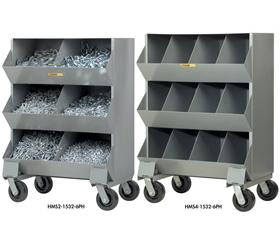 WELDED STEEL MOBILE STORAGE BINS