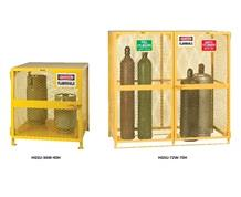 ALL-WELDED UPRIGHT GAS CYLINDER STORAGE UNITS
